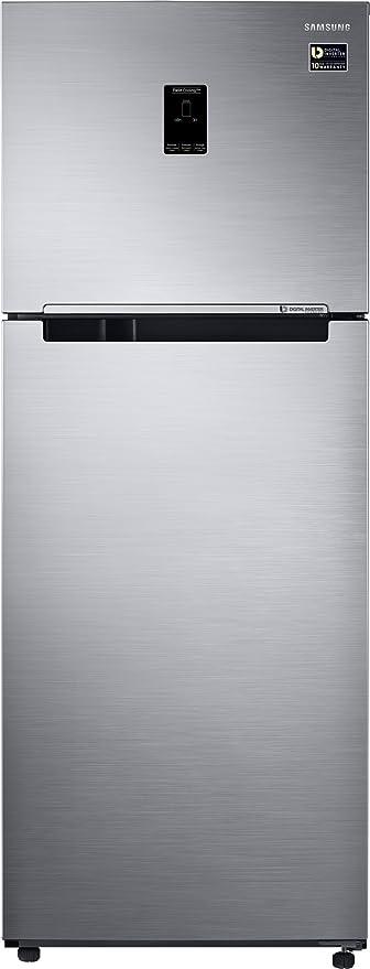 Samsung 415L 3 Star Inverter Frost Free Double Door Refrigerator  RT42M553ES8/TL, Elegant Inox, Convertible  Refrigerators