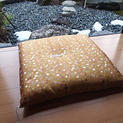 Four Seasons Shop JPN Shinnishiki Bisakura Compression Cushion Handmade  Japanese Brocade Fabric Zabuton Meditation Cushion 24.8