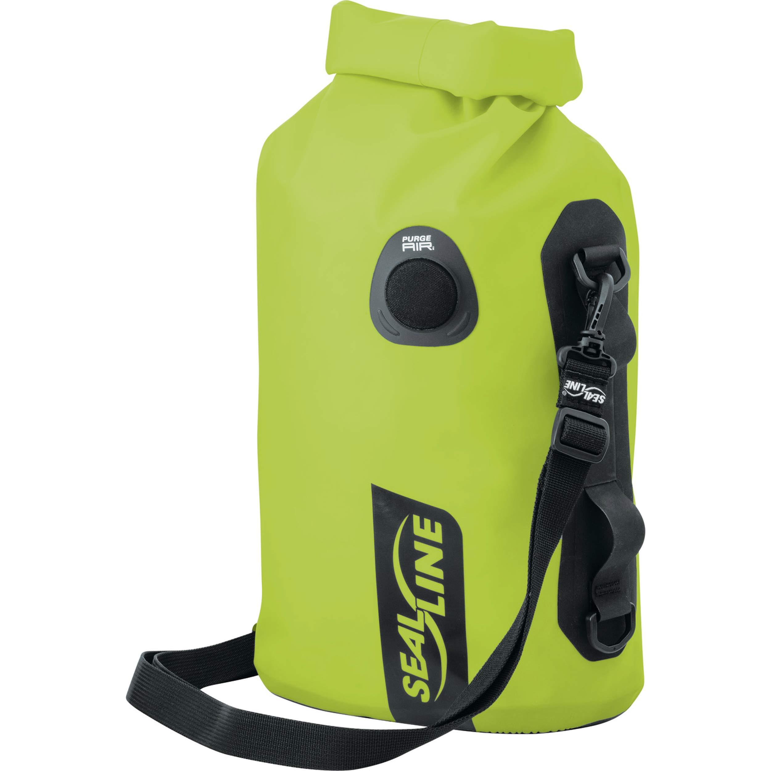 SealLine Discovery Deck Waterproof Dry Bag with PurgeAir, Lime, 10-Liter
