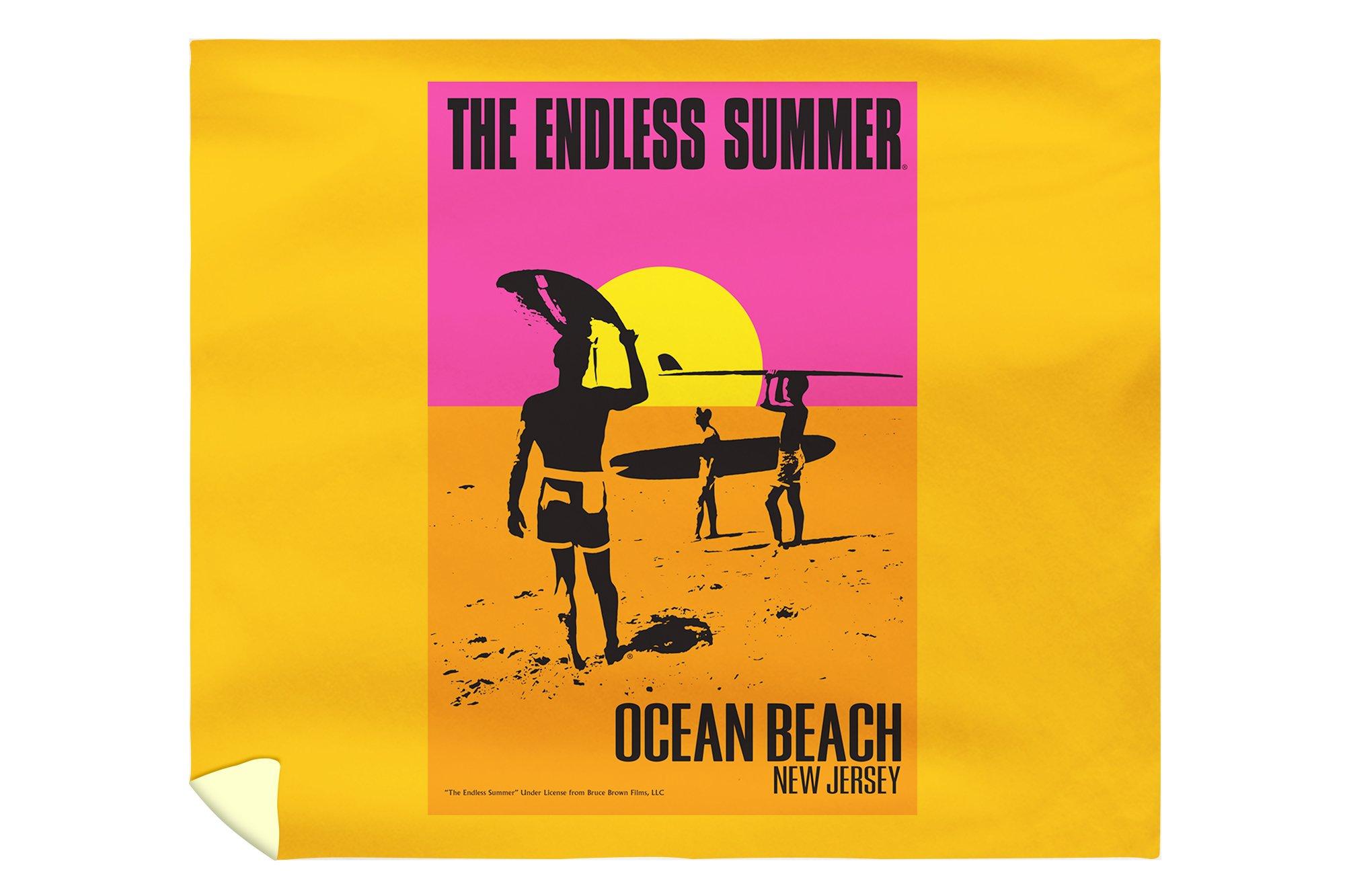 Ocean Beach, New Jersey - The Endless Summer - Original Movie Poster (88x104 King Microfiber Duvet Cover)