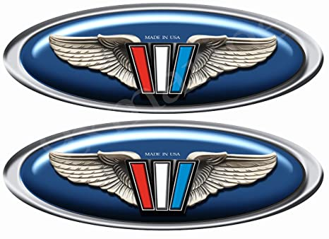 Amazon com: 9xmarine Two Wellcraft Boat Wings Oval Stickers