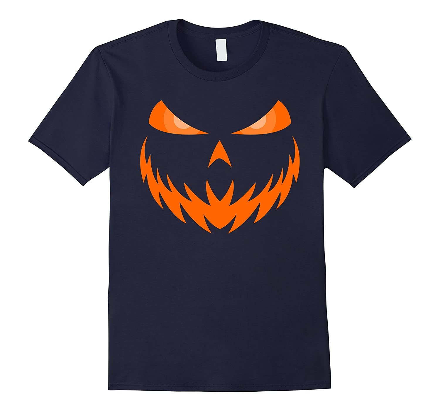 Scary Jack-O-Lantern Face Shirt Halloween Costume Shirts-RT