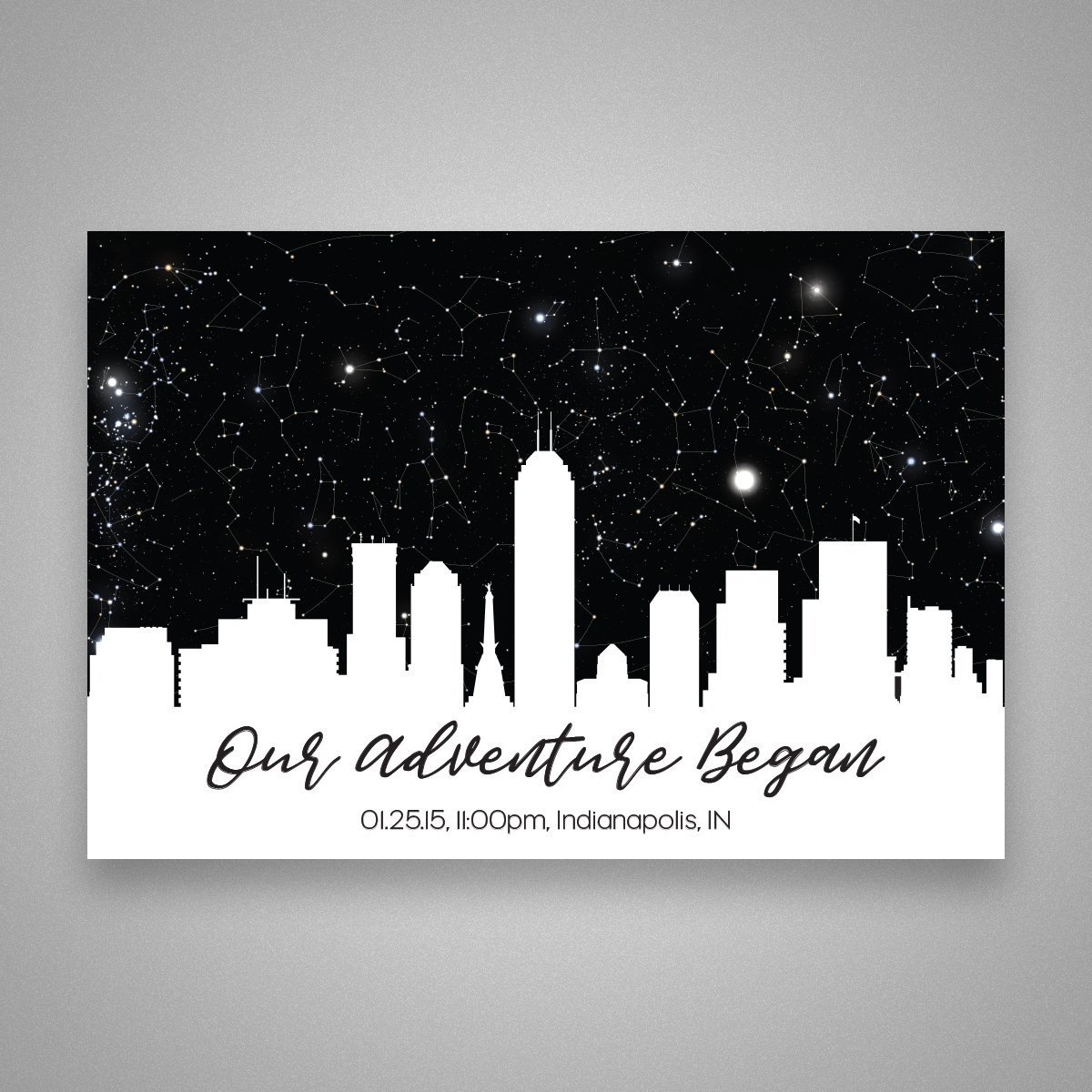 Custom Personalized Skyline Star Constellation Map Chart Choose Your Occasion Engagement Anniversary Birthday Baby Present Cool Gift Idea