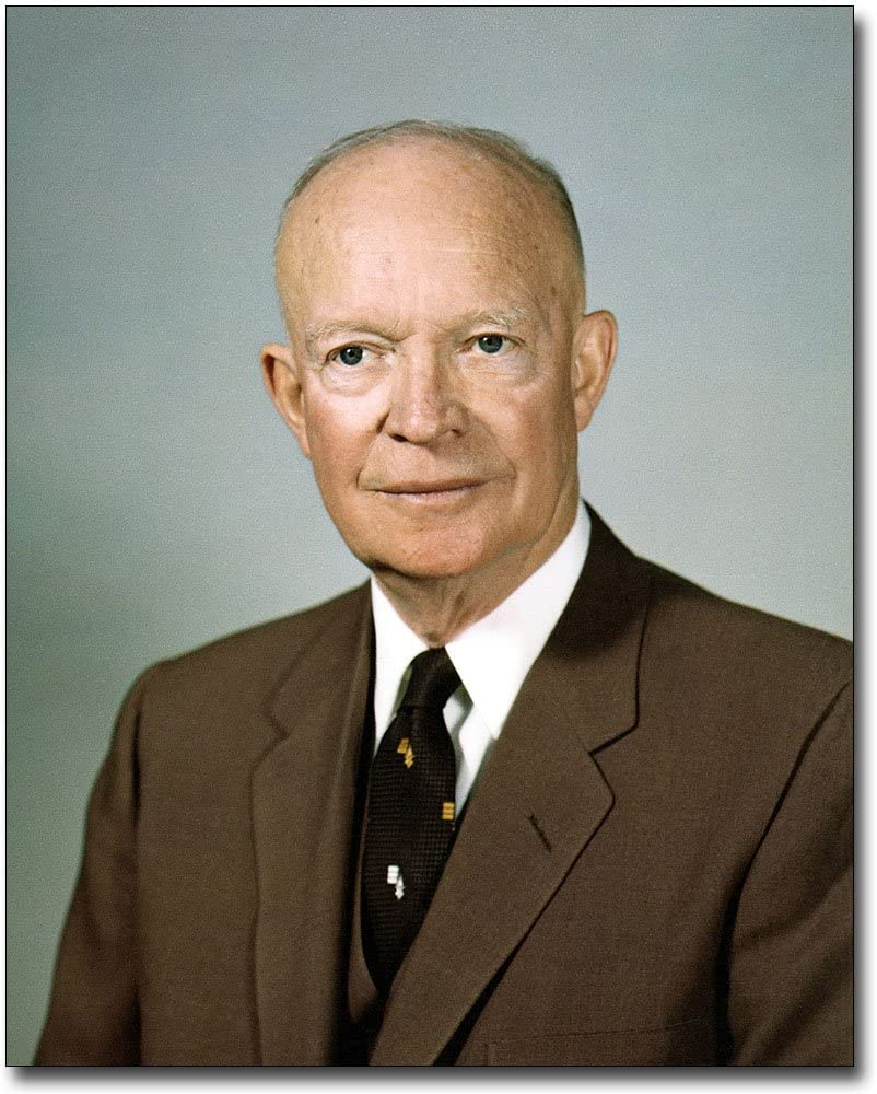 DWIGHT D EISENHOWER US PRESIDENT PORTRAIT PAINTING HISTORY ART REAL CANVAS PRINT