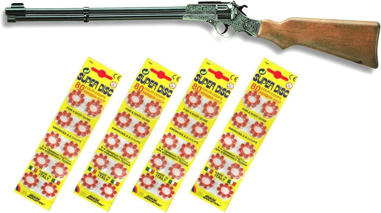 Outletdelocio. Escopeta Enfield Juguete con 320 fulminantes en Aros de 8 tiros. 56157/4-62517