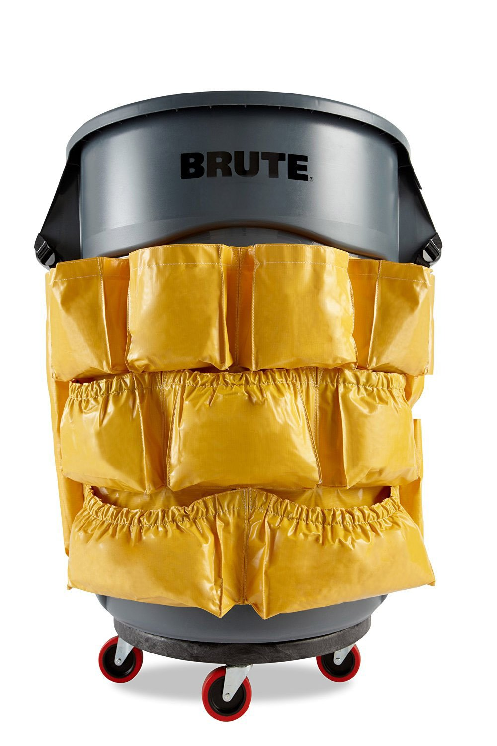 YELLOW ROUND Caddy Bag For Brute by Farag Janitorial