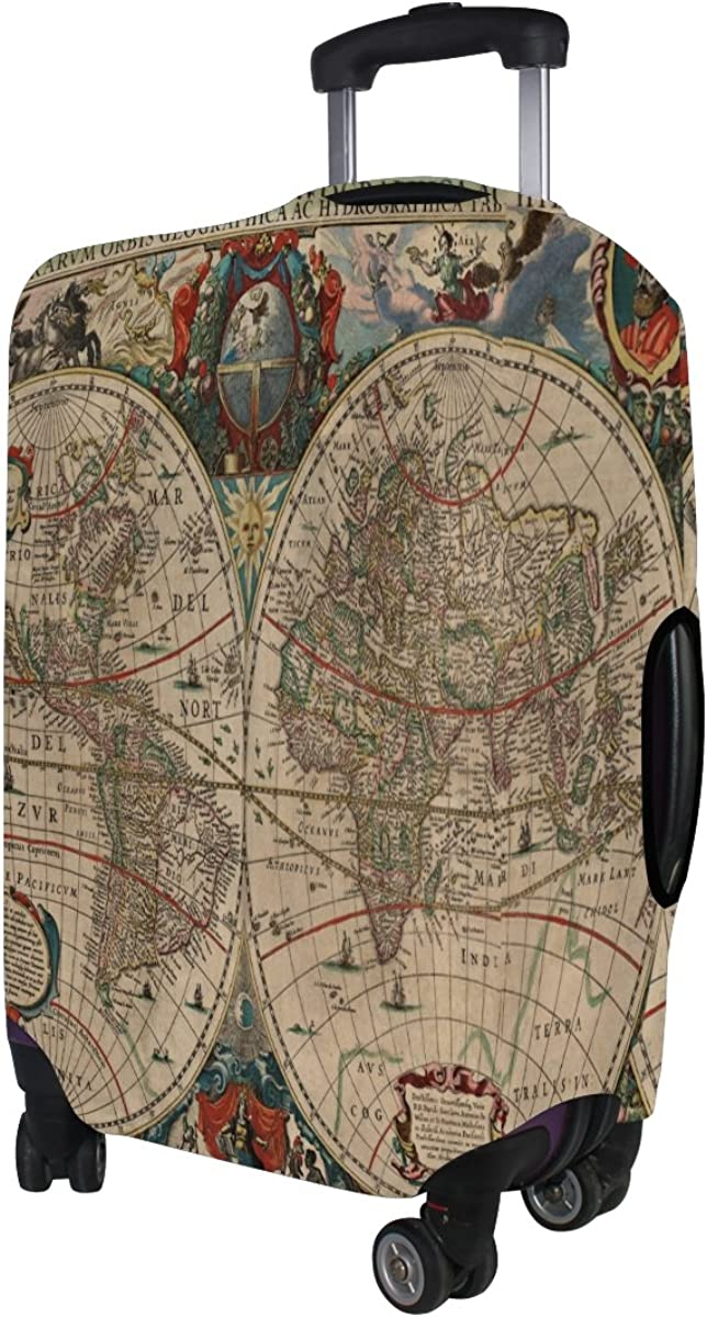 LAVOVO Old World Map Luggage Cover Suitcase Protector Carry On Covers