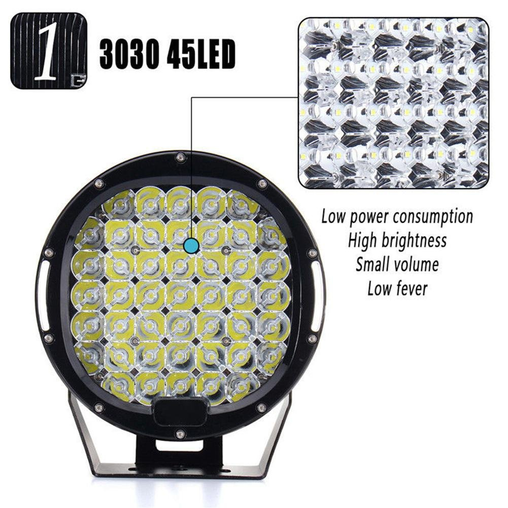 ZHUOTOP 9Inch 690000LM SUV Car LED Work Light Spot Flood Driving Lamp Offroad Truck 7650W 45LED by ZHUOTOP (Image #2)