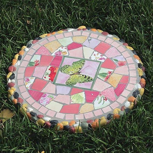 zenggp - Mesa de jardín con diseño de Mosaico: Amazon.es: Jardín
