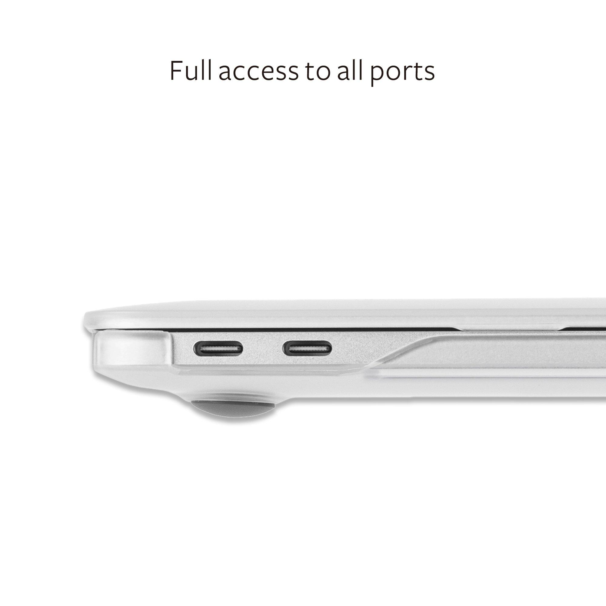 Moshi 99MO071006 iGlaze Hard Case for 2018 New MacBook Pro Retina 15'' & Thunderbolt 3 with Touch Bar, Stealth Black by Moshi (Image #7)