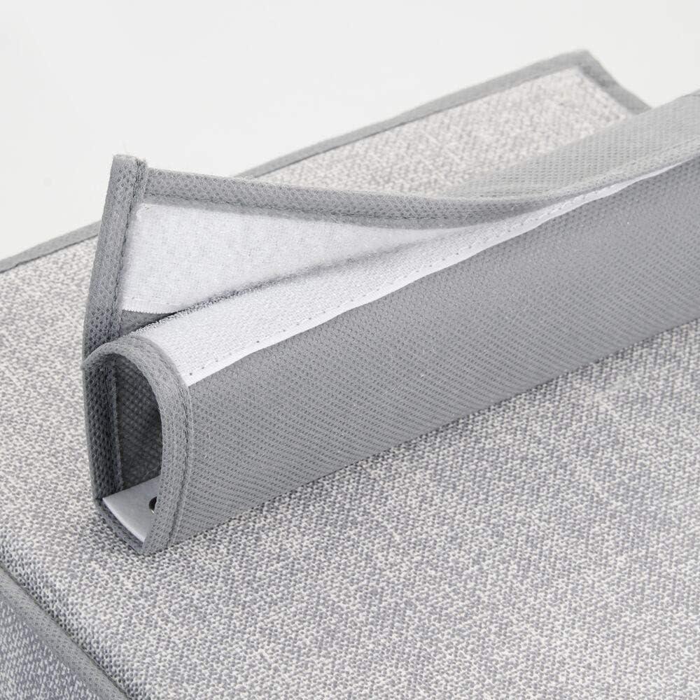 Pr/áctico Organizador de Corbatas 4 Ganchos Percha de Acero de Color Cromo para ordenar armarios pa/ñuelos y Cinturones mDesign Organizador de armarios