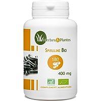 Herbes Et Plantes Spiruline Bio 180 Gélules Végétales 400 mg