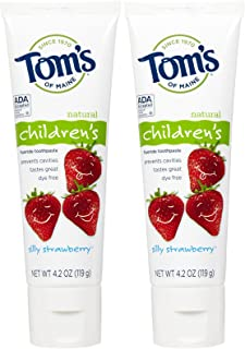 product image for Tom's of Maine Anticavity Fluoride Children's Toothpaste - 4.2 oz - Silly Strawberry - 2 pk