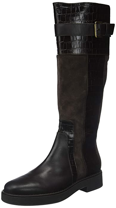 edee5e2e4c96 Geox Women s s D Adrya a High Boots  Amazon.co.uk  Shoes   Bags