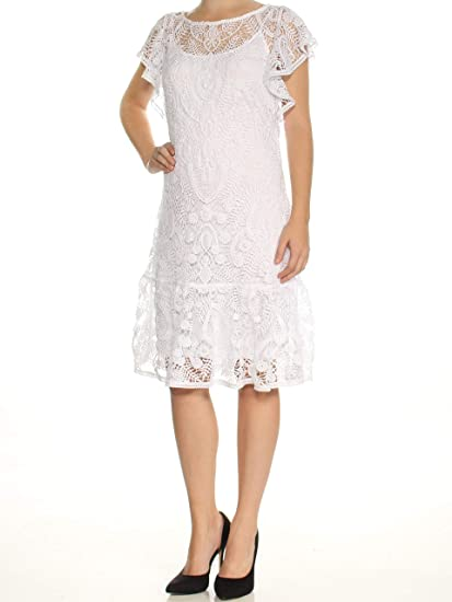 Polo Lace SmallAt Amazon Ruffled DresswhiteX Ralph Lauren zSqpMUV