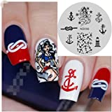 NICOLE DIARY Anchor Nail Art Stamp Template Ocean Style Image Stamping Plate NDP-006