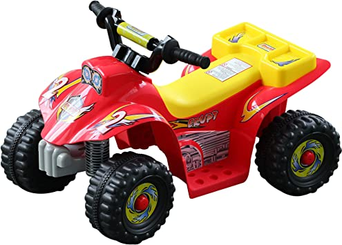 Oferta amazon: HOMCOM Quad Bateria 6V Moto Eléctrica Infantil Niños 3 años Velocidad 2.5 Km/h Carga Máx 20 Kg Sonido Luces Cargador Incluido