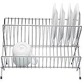 KitchenCraft Small Folding Dish Drainer, 36 x 26 x 24.5 cm - Chrome Plated