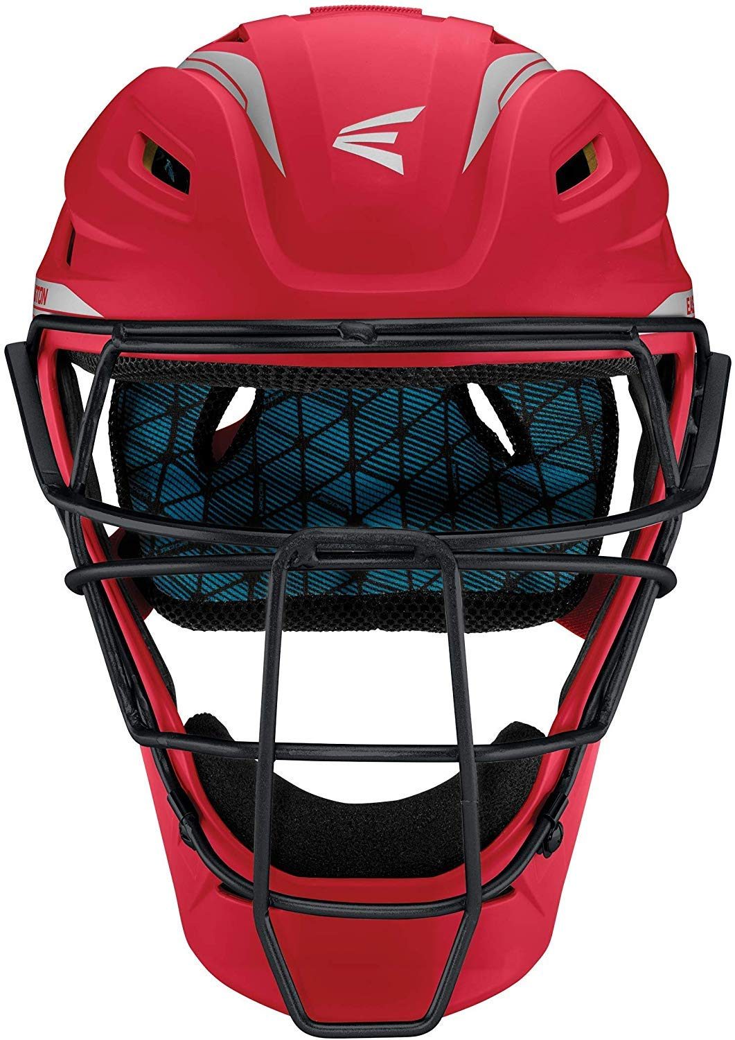 Easton Pro x Catchers Helmet Pro-X C-Helmet RY/Sl L, Red/ Silver, Large by Easton