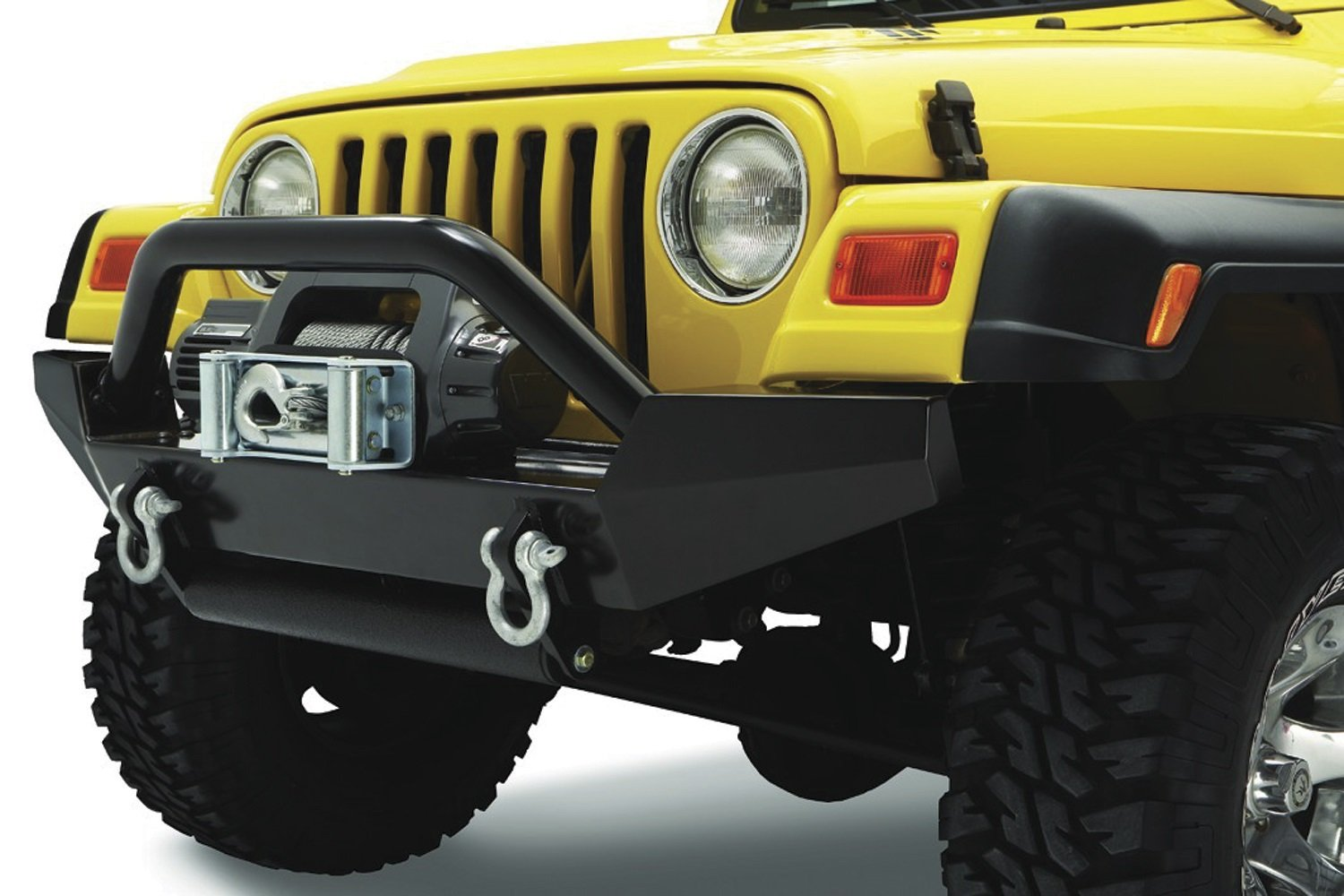Bestop 44906-01 HighRock 4x4 Matte Black Grill Guard for 1997-2006 Wrangler TJ /& TJD