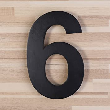 Mellewell Modern Address Numbers For House Door Numerals StandOut - 10 inch metal house numbers