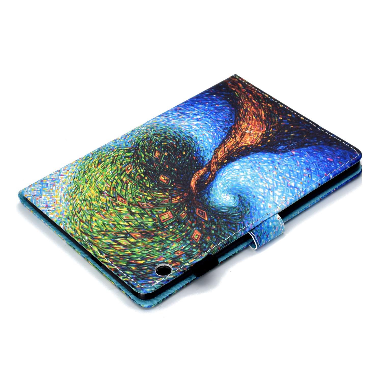 Felfy Kompatibel mit Huawei MediaPad T3 10.0 H/ülle Leder Flip Case Tasche Bunt Muster Tablet Klappst/änder mit St/änder Funktion und Kartenfach Schutzh/ülle mit Automatischem Schlaf Funktion