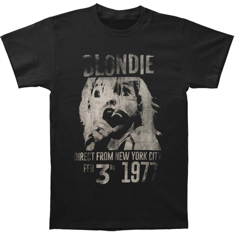 b0d76c1b399 Amazon.com: Blondie Men's Blondie 1977 T-shirt X-Large Black: Clothing
