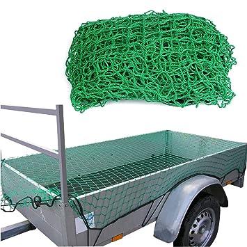 2,5 x 3,5m Anhängernetz PP Ladungssicherungsnetz Langlebig Schutznetz Wetterfest