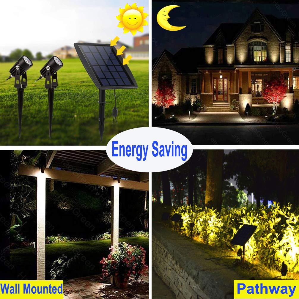 Led Landscape Solar Spot Lights Waterproof Outdoor Solar