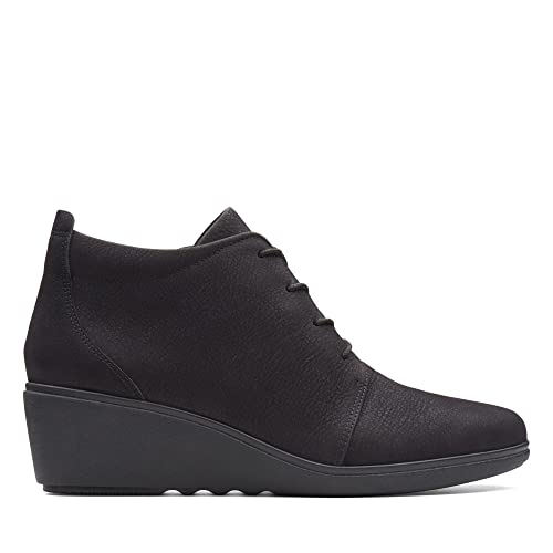 e8a61959b341 Clarks Un Tallara Eva Nubuck Boots in Black  Amazon.co.uk  Shoes   Bags