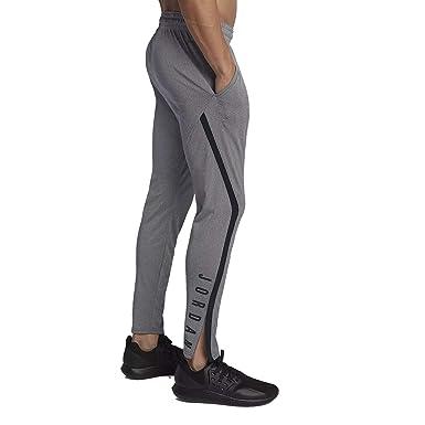 d3383d03f764d Nike Mens Jordan 23 Alpha Dry-Fit Athletic Fit Training Pants Carbon  Heather/Black