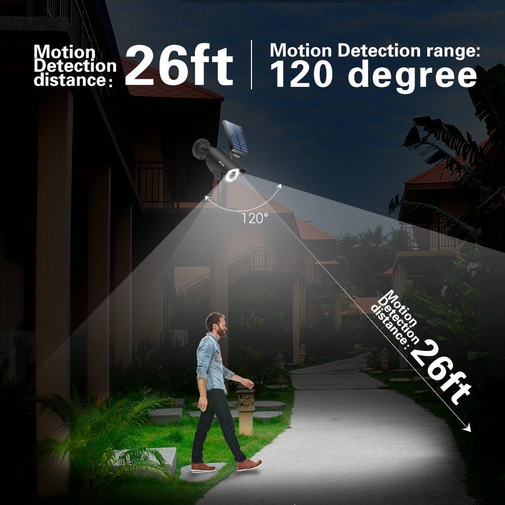 White Wireless Solar Flood Light for Porch Garden Patio Driveway Pathway,Aluminum,Pack of 2 Solar Motion Sensor Light Outdoor 800Lumens 8 LED Spotlight 5-Watt Solar Lights Outdoor IP66 Waterproof