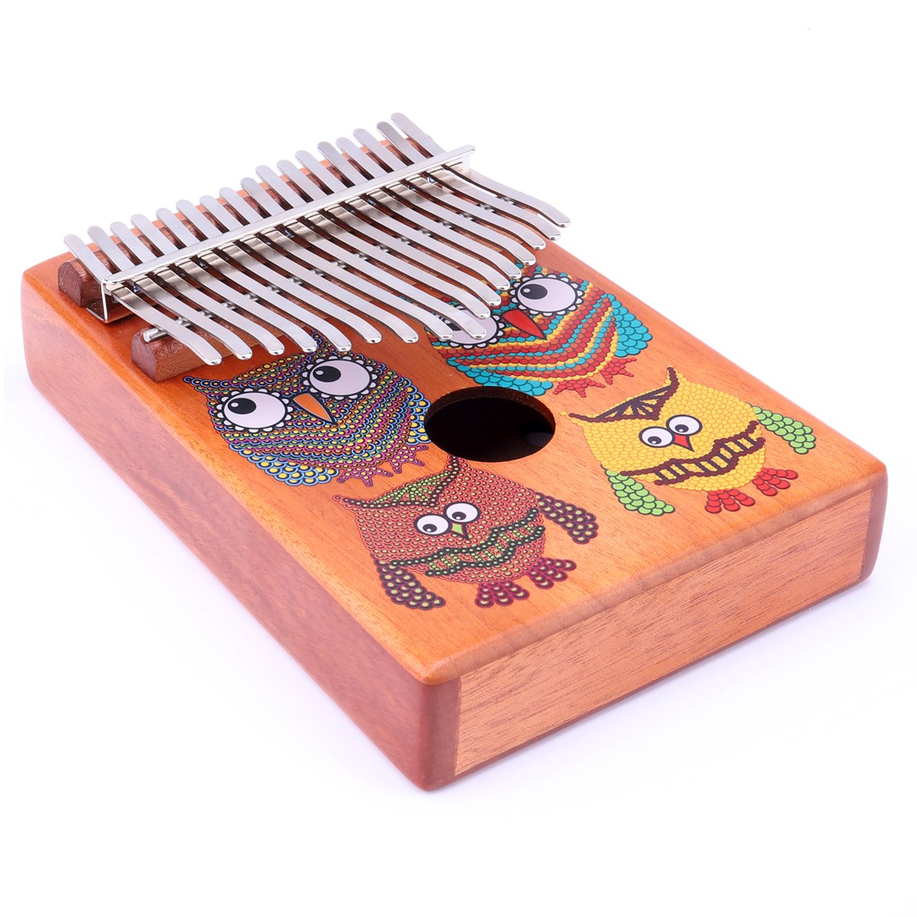 VI VICTORY 17 Key Mahogany Kalimba Colorful African Thumb Piano Finger Percussion Keyboard Music Instruments - Owl by VI VICTORY (Image #5)