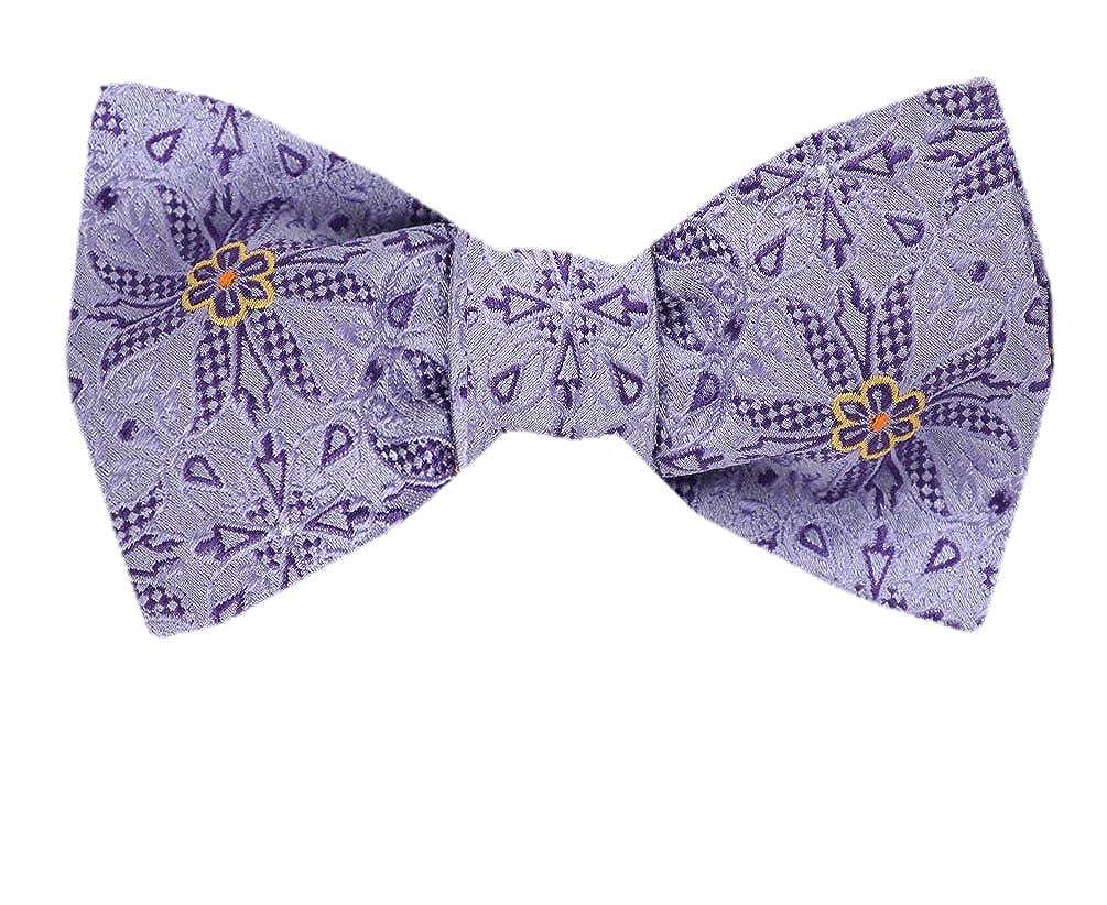 FBTZ-1281 Mens Silk Self Tie Bowtie Tie Yourself Bow Ties
