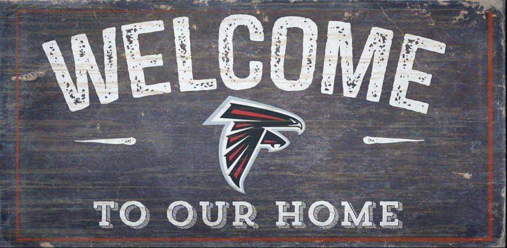 Fan Creations Welcome Atlanta Falcons Distressed 6 x 12, Multi