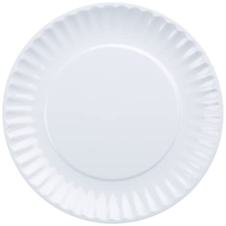 DII Melamine Reusable Party or Picnic Plate White Set of 12  sc 1 st  Amazon.com & Amazon.com: DII Melamine Reusable Party or Picnic Plate White Set ...