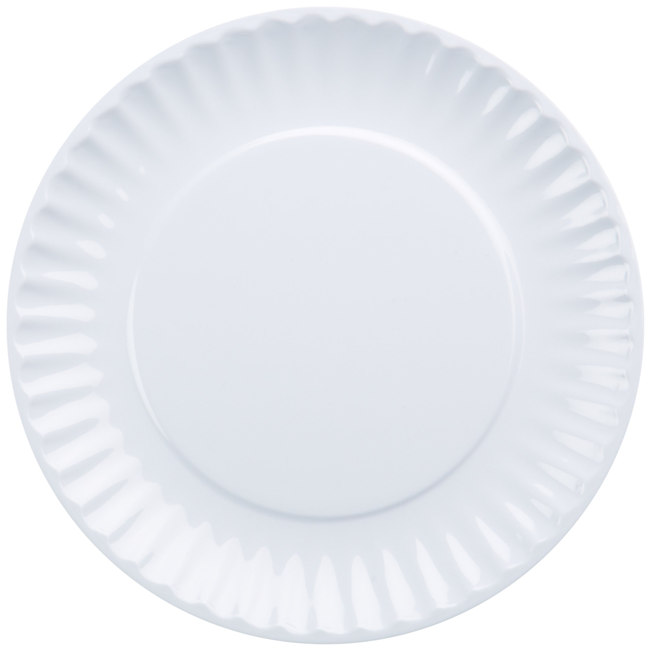 DII Melamine Reusable Party or Picnic Plate, White, Set of 12