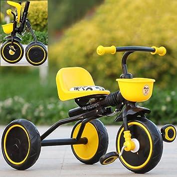 Enfants Tricycles Pliable Mini Velo Simple Interieur Et Exterieur 2 4 Ans En Acier Jaune Velo Amazon Fr Jeux Et Jouets