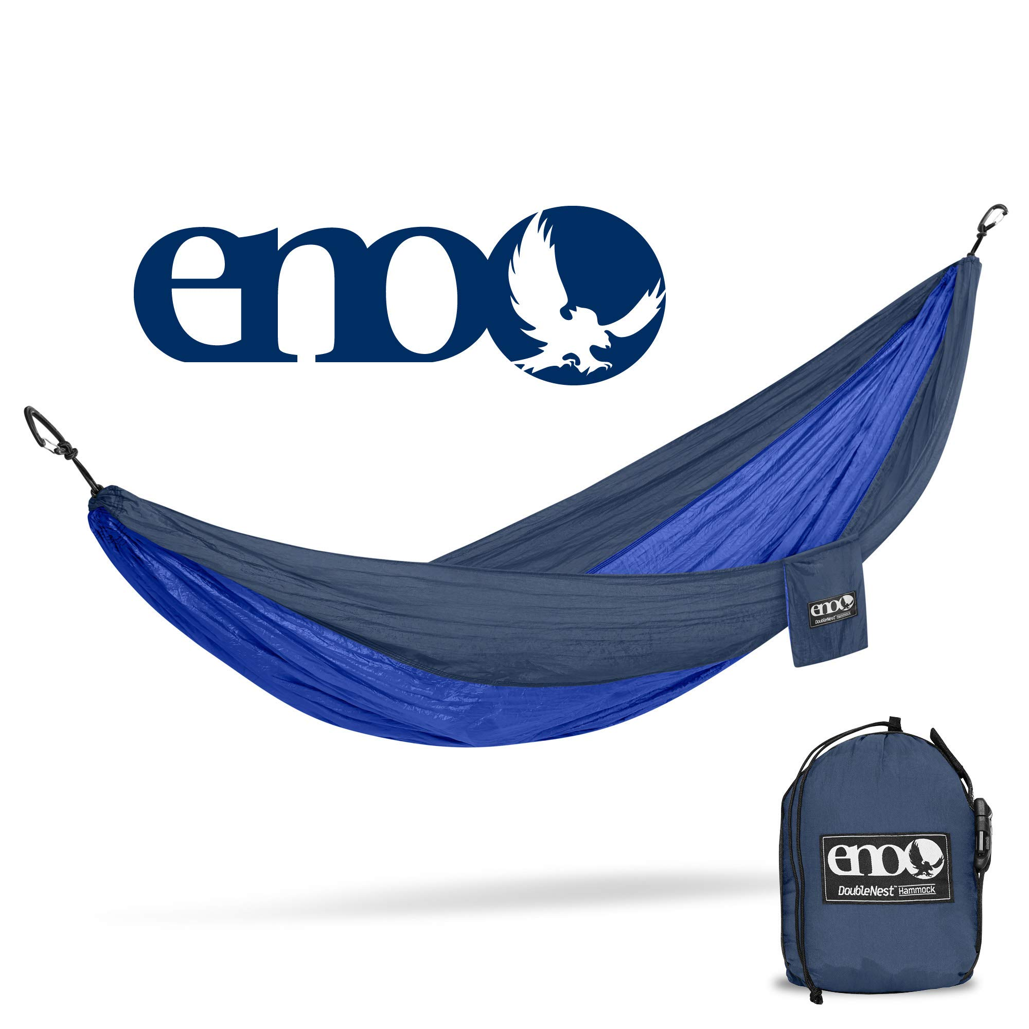 ENO - Eagles Nest Outfitters DoubleNest Hammock, Portable Hammock for Two, Navy/Royal