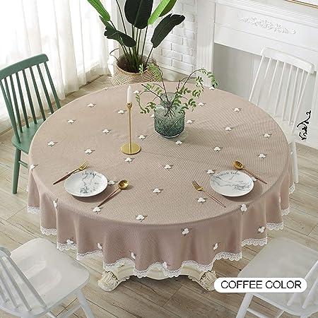 A-tablecloth Manteles de algodón-hogar y Ropa Bordada tapetes de Mesa, manteles Redondos Grandes en Sala de Estar, de Encaje (Color : B, Talla : 180cm): Amazon.es: Hogar