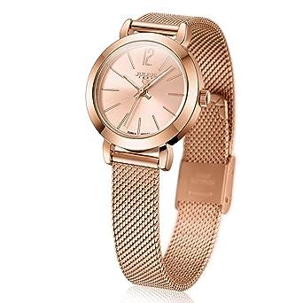0bf9dba19fd Amazon.com  JULIUS Women s Rose Gold Mesh Stainless Ultra Thin Stylish Quartz  Watch Fashion Elegant Wristwatch  Korea design  Watches