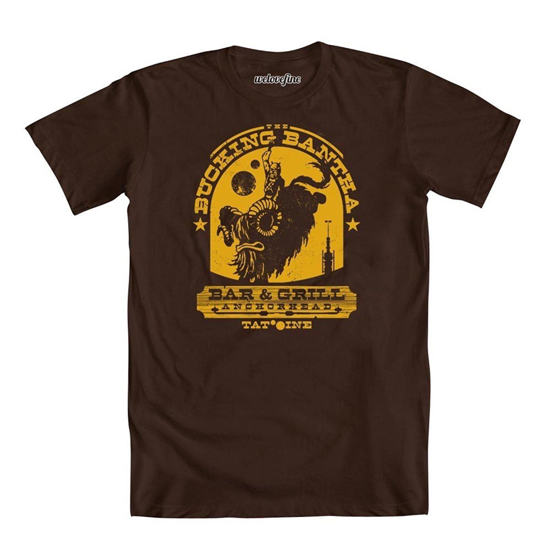 Star Wars Bucking Bantha Bar & Grill Adult T-Shirt-Brown (Medium)