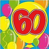 20 Servilletas 60a Cumpleaños, aniversario,