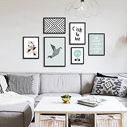 . Amazon com  6 photo frame collage living room combination painting