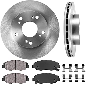 2006 2007 Honda Civic DX//LX//EX Cpe Rotors Metallic Pads F OE Replacement