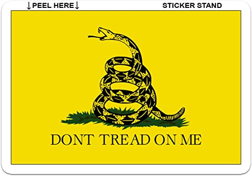 Don/'t Tread On Me Decal Gadsden Rattlesnake Sticker *PICK YOUR SIZE /& COLOR*