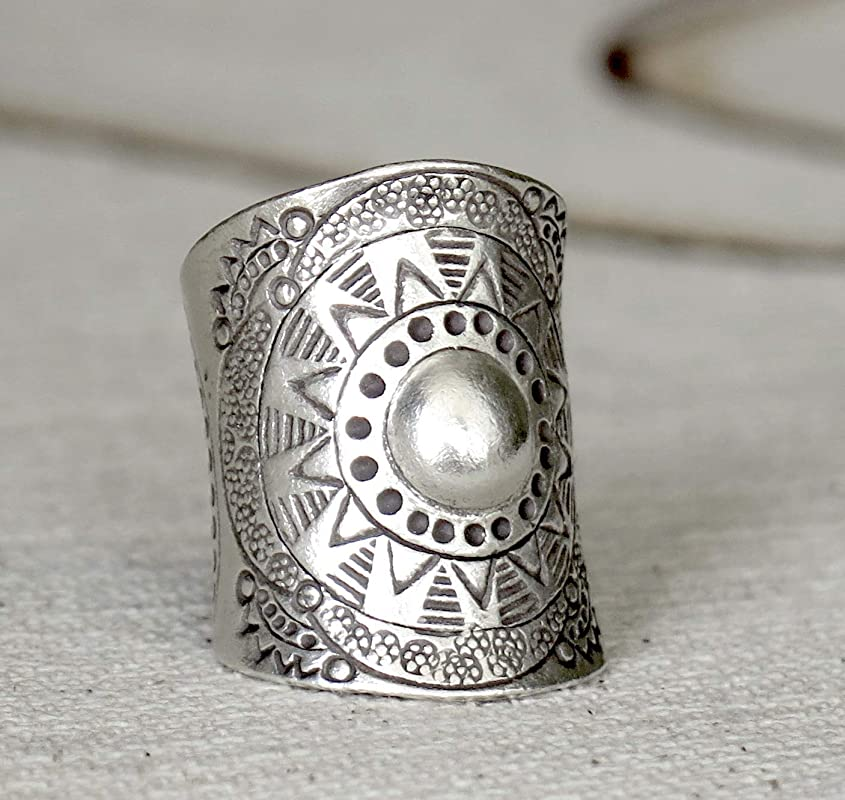 Silver Rings Statement Ring Sterling Silver Multiple Swirl Ring Boho Ring