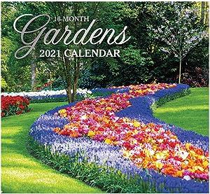 2021 Full-Size Wall Calendar, 16-Month (Gardens)