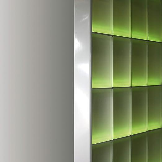 Abschlussprofil für 8cm starke Glasbausteine Glasstein in Edelstahl glänzend NEU