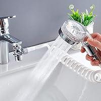 POHOVE Wastafel Handdouche Set, Haar Wassen Kraan Handheld Douchekop Externe Gootsteen Slang Sproeier Rinser Kit, voor…